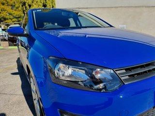 2013 Volkswagen Polo 6R MY14 Trendline DSG Blue 7 Speed Sports Automatic Dual Clutch Hatchback.