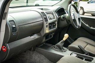 2010 Nissan Navara D40 ST White 6 Speed Manual Utility