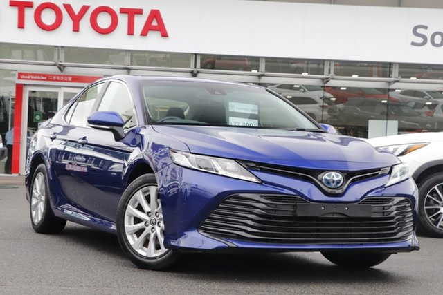 Pre-Owned Toyota Camry AXVH71R Ascent Upper Mount Gravatt, 2019 Toyota Camry AXVH71R Ascent Blue 6 Speed Constant Variable Sedan Hybrid