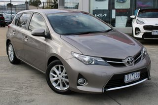 2014 Toyota Corolla ZRE182R Ascent Sport S-CVT Gold 7 Speed Constant Variable Hatchback.