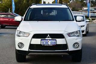 2012 Mitsubishi Outlander ZH MY12 XLS Luxury White 6 Speed Constant Variable Wagon