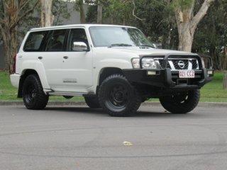 2015 Nissan Patrol Y61 GU 10 ST White 4 Speed Automatic Wagon.