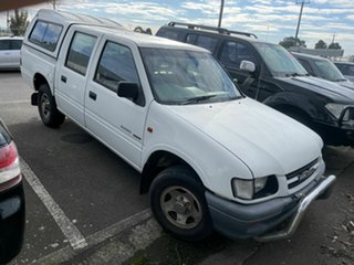 1998 Holden Rodeo TFR9 LX White 5 Speed Manual Crew Cab Pickup.