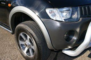 2008 Mitsubishi Triton ML MY08 GLX Black 4 Speed Automatic Double Cab Utility.