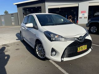 2014 Toyota Yaris NCP131R ZR White 4 Speed Automatic Hatchback.