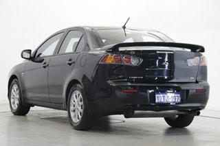 2011 Mitsubishi Lancer CJ MY11 SX Black 6 Speed Constant Variable Sedan.