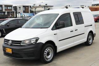 2016 Volkswagen Caddy 2KN MY16 TSI220 Maxi DSG White 7 Speed Sports Automatic Dual Clutch Van