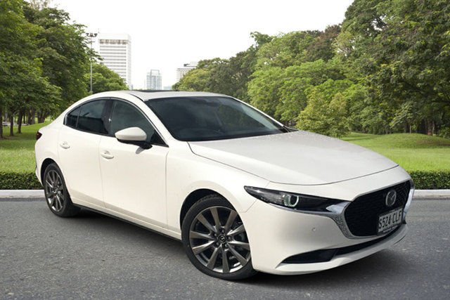 Demo Mazda 3 BP2SLA G25 SKYACTIV-Drive Astina Paradise, 2021 Mazda 3 BP2SLA G25 SKYACTIV-Drive Astina White Pearl 6 Speed Sports Automatic Sedan