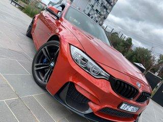 2016 BMW M3 F80 LCI M-DCT Orange 7 Speed Sports Automatic Dual Clutch Sedan.