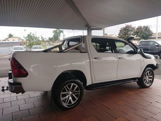 2017 Toyota Hilux GUN126R MY17 SR5+ (4x4) Glacier White 6 Speed Automatic Dual Cab Utility.