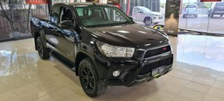 2018 Toyota Hilux GUN136R SR Extra Cab 4x2 Hi-Rider Black 6 Speed Sports Automatic Utility.