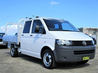 2011 Volkswagen Transporter T5 MY11 LWB DSG White 7 Speed Sports Automatic Dual Clutch Cab Chassis.
