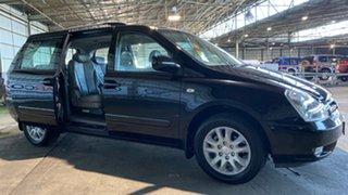 2008 Kia Carnival VQ MY07 EX Luxury Black 4 Speed Sports Automatic Wagon.
