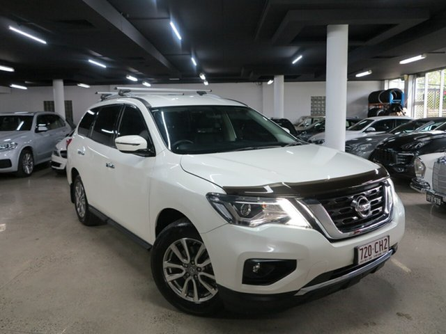 Used Nissan Pathfinder R52 Series II MY17 ST X-tronic 2WD Albion, 2018 Nissan Pathfinder R52 Series II MY17 ST X-tronic 2WD White 1 Speed Constant Variable Wagon