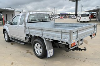 2013 Nissan Navara D40 S6 MY12 ST-X King Cab Silver 6 Speed Manual Cab Chassis