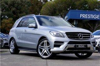 2013 Mercedes-Benz M-Class W166 ML350 BlueTEC 7G-Tronic + Silver 7 Speed Sports Automatic Wagon.