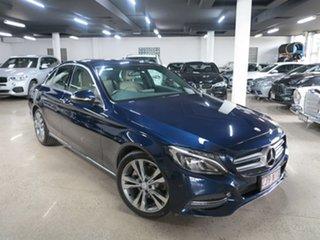 2014 Mercedes-Benz C-Class W205 C200 7G-Tronic + Blue 7 Speed Sports Automatic Sedan.