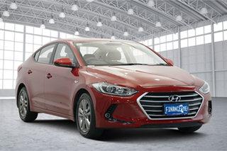 2016 Hyundai Elantra AD MY17 Active Red 6 Speed Sports Automatic Sedan.