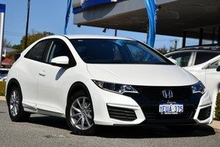 2015 Honda Civic 9th Gen MY15 VTi-S White 5 Speed Sports Automatic Hatchback.