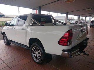 2017 Toyota Hilux GUN126R MY17 SR5+ (4x4) Glacier White 6 Speed Automatic Dual Cab Utility