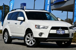 2012 Mitsubishi Outlander ZH MY12 XLS Luxury White 6 Speed Constant Variable Wagon.