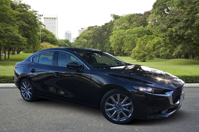 Demo Mazda 3 BP2SLA G25 SKYACTIV-Drive GT Paradise, 2021 Mazda 3 BP2SLA G25 SKYACTIV-Drive GT Jet Black 6 Speed Sports Automatic Sedan