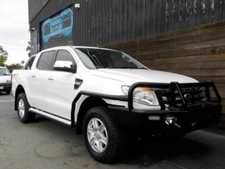 2015 Ford Ranger PX XLT Double Cab White 6 Speed Sports Automatic Utility.