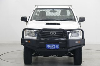 2012 Toyota Hilux KUN26R MY12 SR White 4 Speed Automatic Cab Chassis.
