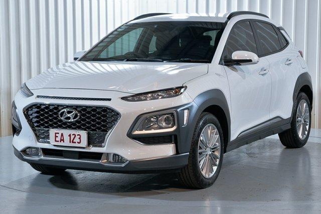 Used Hyundai Kona OS.2 MY19 Elite 2WD Hendra, 2019 Hyundai Kona OS.2 MY19 Elite 2WD White 6 Speed Sports Automatic Wagon