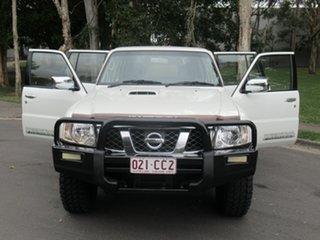 2015 Nissan Patrol Y61 GU 10 ST White 4 Speed Automatic Wagon