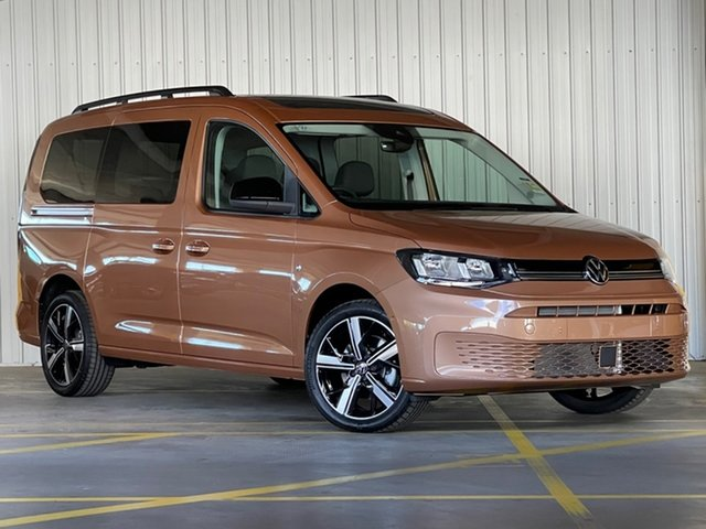 New Volkswagen Caddy SK MY21 TDI320 Maxi DSG Life Moorabbin, 2021 Volkswagen Caddy SK MY21 TDI320 Maxi DSG Life Bronze 7 Speed Sports Automatic Dual Clutch Wagon