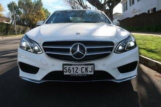 2013 Mercedes-Benz E-Class W212 MY13 E250 7G-Tronic + White 7 Speed Sports Automatic Sedan.