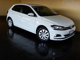 2018 Volkswagen Polo AW MY18 70TSI Trendline White 7 Speed Auto Direct Shift Hatchback