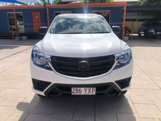 2019 Mazda BT-50 UR0YG1 XT 4x2 Hi-Rider White 6 Speed Sports Automatic Cab Chassis.