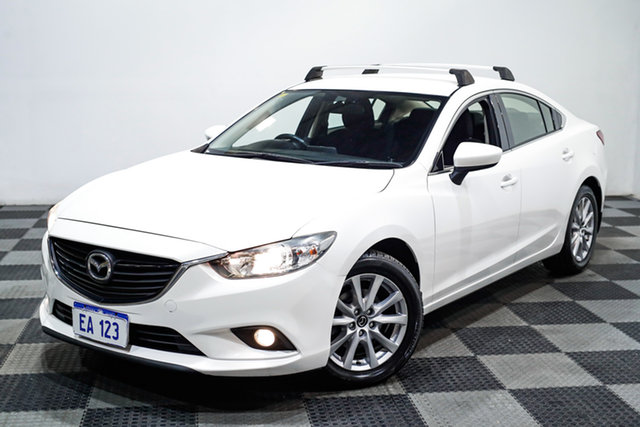 Used Mazda 6 GJ1032 Sport SKYACTIV-Drive Edgewater, 2015 Mazda 6 GJ1032 Sport SKYACTIV-Drive White 6 Speed Sports Automatic Sedan
