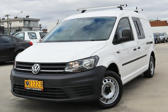 Used Volkswagen Caddy 2KN MY16 TSI220 Maxi DSG Coburg North, 2016 Volkswagen Caddy 2KN MY16 TSI220 Maxi DSG White 7 Speed Sports Automatic Dual Clutch Van