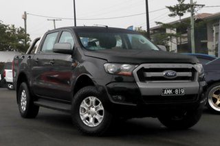 2016 Ford Ranger PX MkII XLS Double Cab Black 6 Speed Sports Automatic Utility.