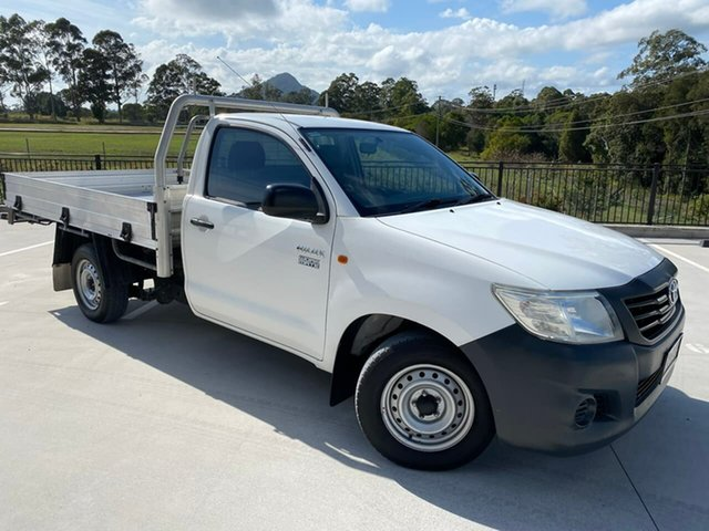 Used Toyota Hilux TGN16R MY14 Workmate 4x2 Cooroy, 2015 Toyota Hilux TGN16R MY14 Workmate 4x2 White 4 Speed Automatic Cab Chassis