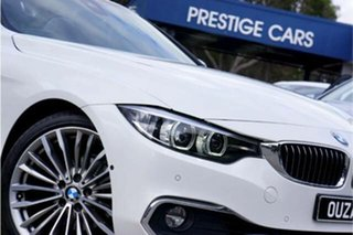 2017 BMW 4 Series F33 420i Luxury Line White 8 Speed Sports Automatic Convertible