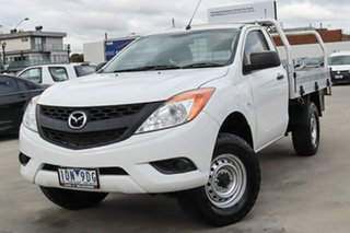 2014 Mazda BT-50 UP0YD1 XT 4x2 Hi-Rider White 6 Speed Sports Automatic Cab Chassis.