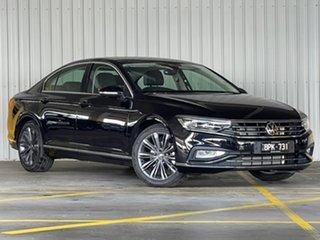 2021 Volkswagen Passat 3C (B8) MY21 162TSI DSG Elegance Black 6 Speed Sports Automatic Dual Clutch.