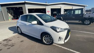 2014 Toyota Yaris NCP131R ZR White 4 Speed Automatic Hatchback
