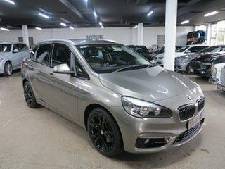 2014 BMW 2 Series F45 218i Active Tourer Steptronic Sport Line Platinum Silver 6 Speed Automatic.
