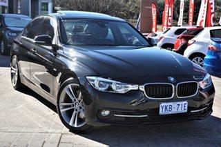 2016 BMW 3 Series F30 LCI 330i Luxury Line Black 8 Speed Sports Automatic Sedan.