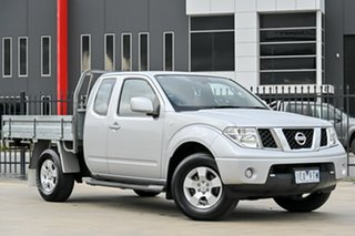 2013 Nissan Navara D40 S6 MY12 ST-X King Cab Silver 6 Speed Manual Cab Chassis.