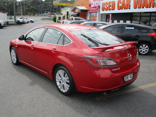 2008 Mazda 6 GH Classic Pearl Red 5 Speed Auto Activematic Hatchback.