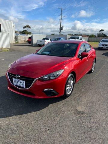 Used Mazda 3 BM5276 Maxx SKYACTIV-MT Warrnambool East, 2014 Mazda 3 BM5276 Maxx SKYACTIV-MT Soul Red 6 Speed Manual Sedan