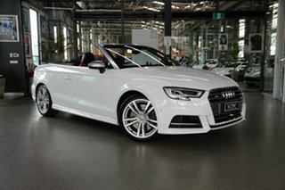2017 Audi S3 8V MY17 S Tronic Quattro White 7 Speed Sports Automatic Dual Clutch Cabriolet.