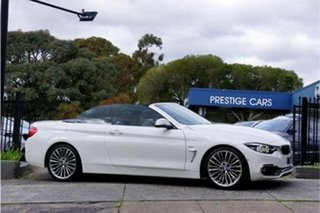 2017 BMW 4 Series F33 420i Luxury Line White 8 Speed Sports Automatic Convertible.