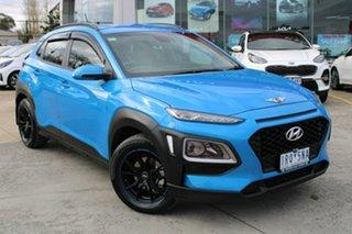 2020 Hyundai Kona Go 2WD Blue 6 Speed Sports Automatic Wagon.